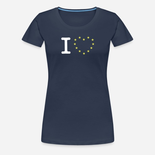 I heart stars - Dame premium T-shirt