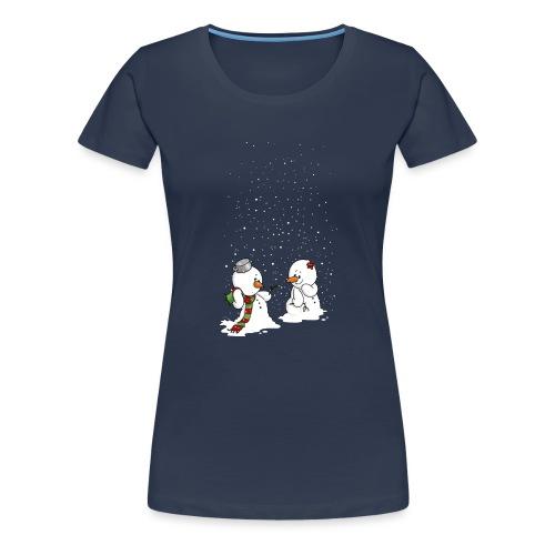 Schneemann & Schneefrollein - Frauen Premium T-Shirt
