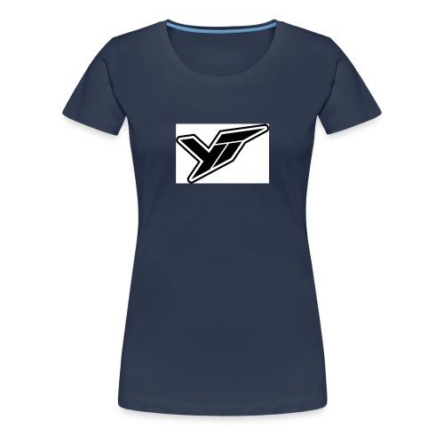 YT LOGO OUTLINE DOPPELT 1 - Women's Premium T-Shirt
