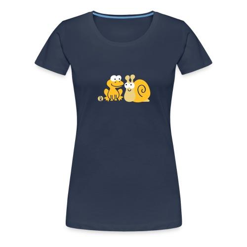 Frosch und Schnecke (c2) Freundschaft - Frauen Premium T-Shirt
