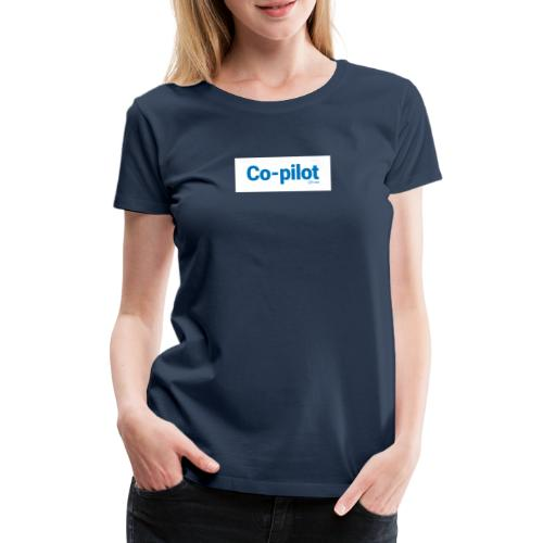 Co-pilot (White) - Women's Premium T-Shirt