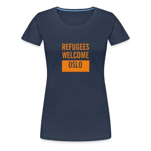 Refugees Welcome Oslo - Premium T-skjorte for kvinner