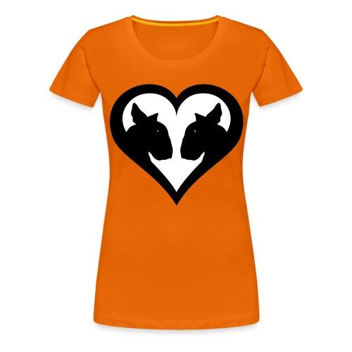 Bull Terrier Love Heart - Women's Premium T-Shirt
