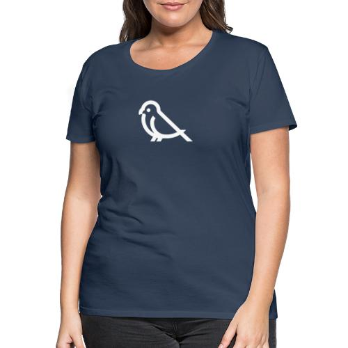 bird weiss - Frauen Premium T-Shirt