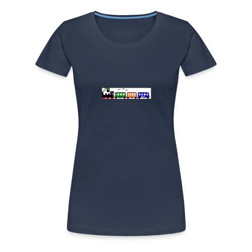dampfender Zug - Frauen Premium T-Shirt