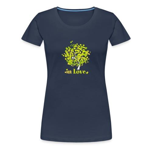 Love Liebe Amor Vogel Herz Baum Valentin - Women's Premium T-Shirt