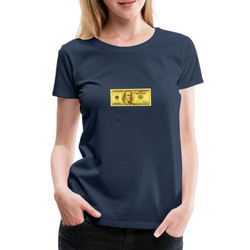Luksus Dollar Tegn Box. - Dame premium T-shirt