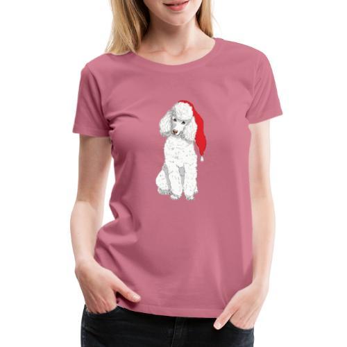 Poodle toy W - christmas - Dame premium T-shirt