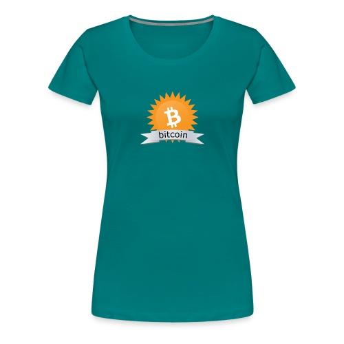 Bitcoin logo - Vrouwen Premium T-shirt