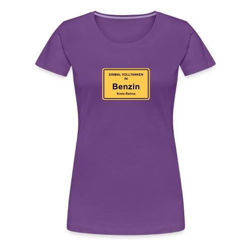 Ortsschild Benzin - Frauen Premium T-Shirt
