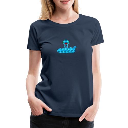 The Snake of Life - Sacred Animals - V/Blue - Women's Premium T-Shirt