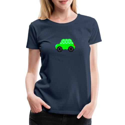 The Car Of Life - M01, Sacred Shapes, Green/R01. - Women's Premium T-Shirt