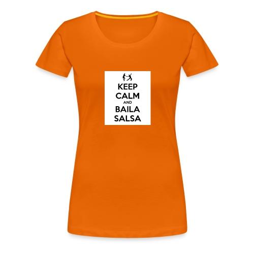keep-calm-and-baila-salsa-41 - Maglietta Premium da donna