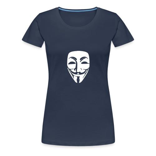 anonymous white mask - Women's Premium T-Shirt