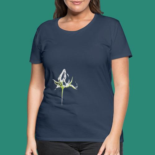 weisse Rosenknospe - Frauen Premium T-Shirt