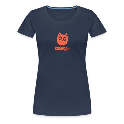 Normale mannen T-Shirt met Askfm logo. - Vrouwen Premium T-shirt
