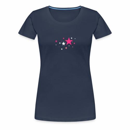Sterne dreifarbig Vektor - Frauen Premium T-Shirt