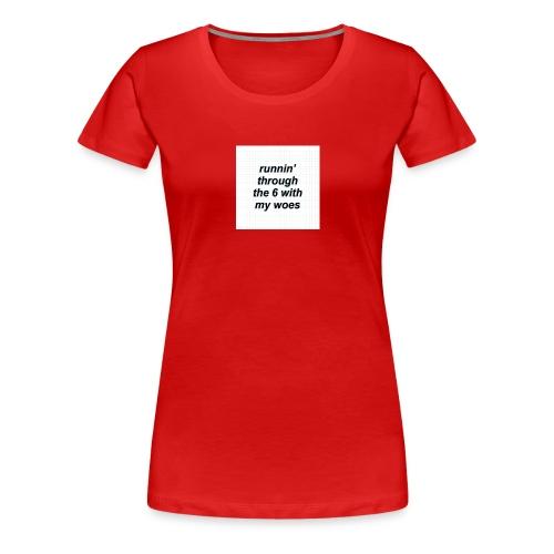 cap woes - Vrouwen Premium T-shirt