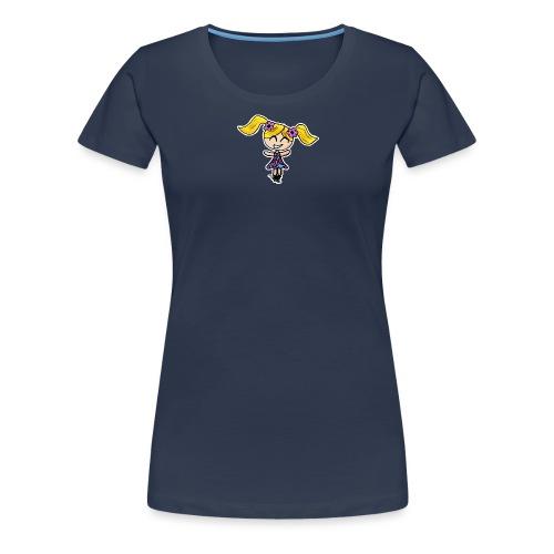 Doll girl - blue dress - Women's Premium T-Shirt