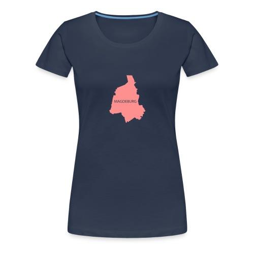 Magdeburg (Grundriss + Schriftzug) - Frauen Premium T-Shirt