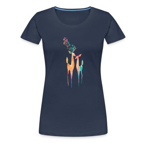 Hirsch Paar Prisma - Frauen Premium T-Shirt
