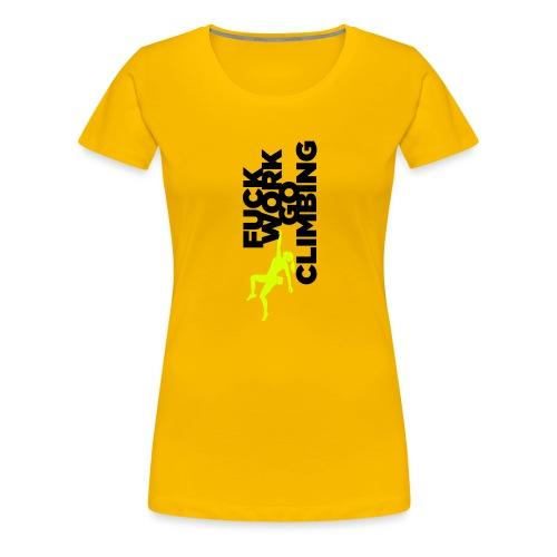 Go Climbing girl! - Women's Premium T-Shirt