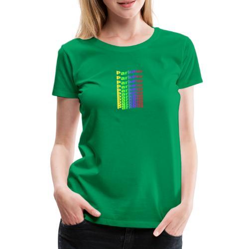 Parkour rainbow - Dame premium T-shirt