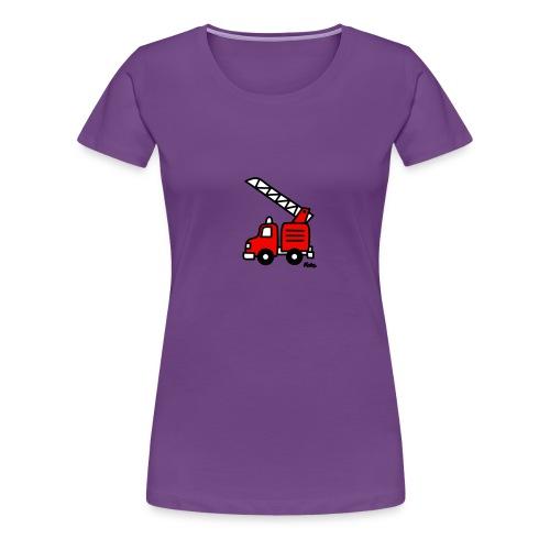 Feuerwehrauto (c) - Frauen Premium T-Shirt