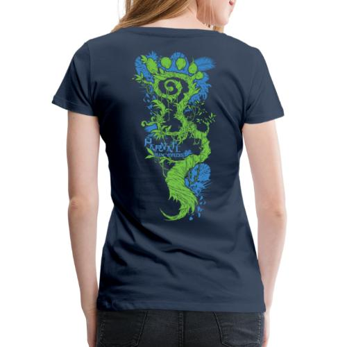 Parvati FootMoss logo in blue & green - Women's Premium T-Shirt