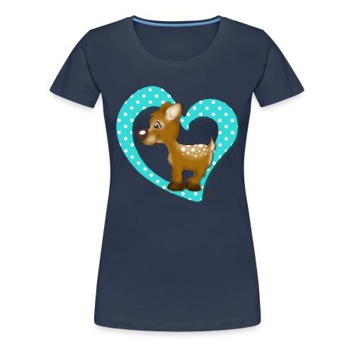 Kira Kitzi Aqua - Frauen Premium T-Shirt