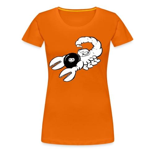 Space Scorpions?! (Black and White) - Women's Premium T-Shirt
