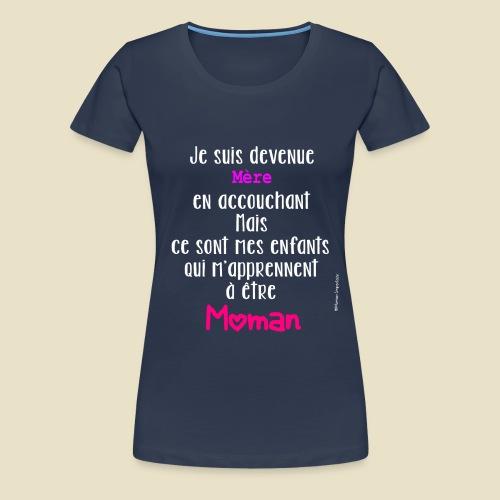 Slogan Môman Imparfaite - T-shirt Premium Femme
