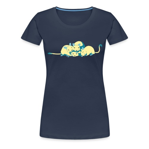 Kuschelhaufen (ohne Text) - Frauen Premium T-Shirt