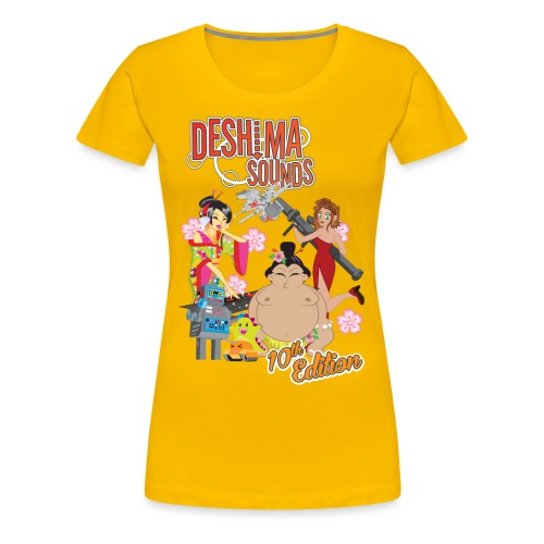 Deshima Sounds 10 2013 - Vrouwen Premium T-shirt
