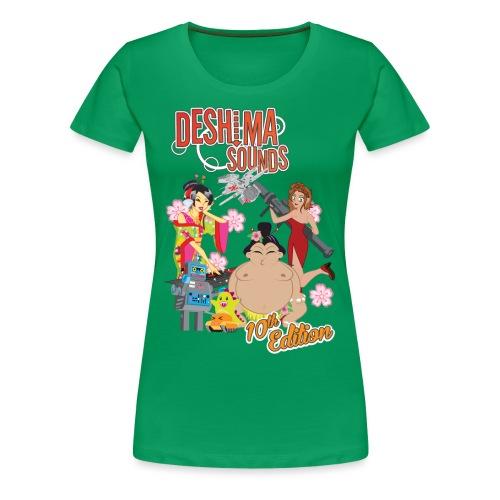 Deshima Sounds 10 2013 - Vrouwen Premium T-shirt