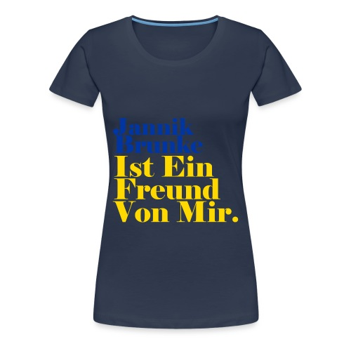 Ein Freund 01 png - Frauen Premium T-Shirt