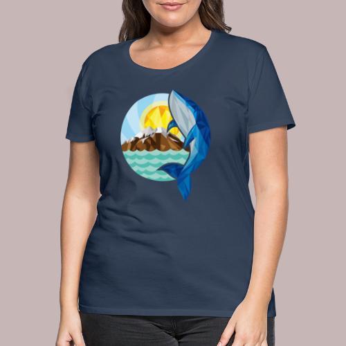 Baleine- Soleil Montagne - T-shirt Premium Femme