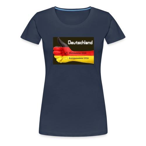 2016 Deutschland Flagge Europameister Weltmeister - Frauen Premium T-Shirt