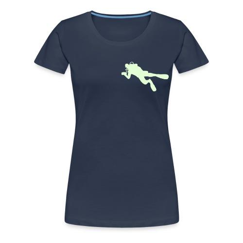 taucher solo - Frauen Premium T-Shirt