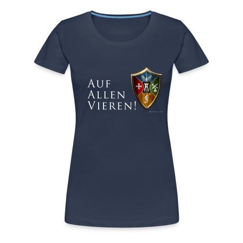 aufallenvieren - Frauen Premium T-Shirt