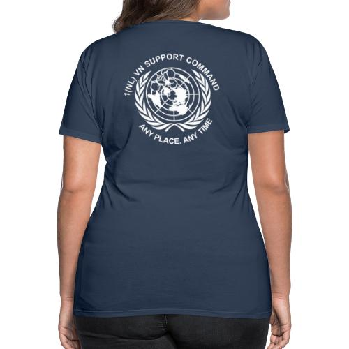 wit rug - Vrouwen Premium T-shirt
