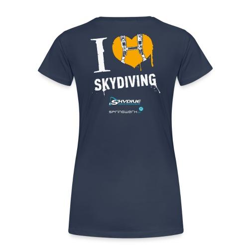 I heart Skydiving Pixel - Frauen Premium T-Shirt