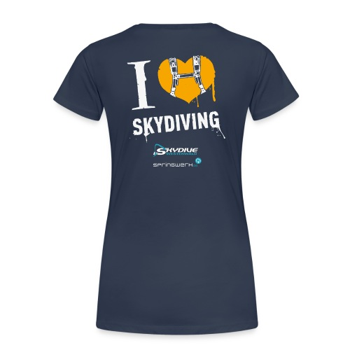 I heart Skydiving Pixel - Frauen Premium T-Shirt