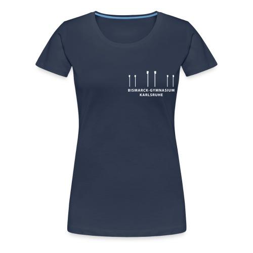 brustaufdruck skullslogoklein mit schrif - Frauen Premium T-Shirt