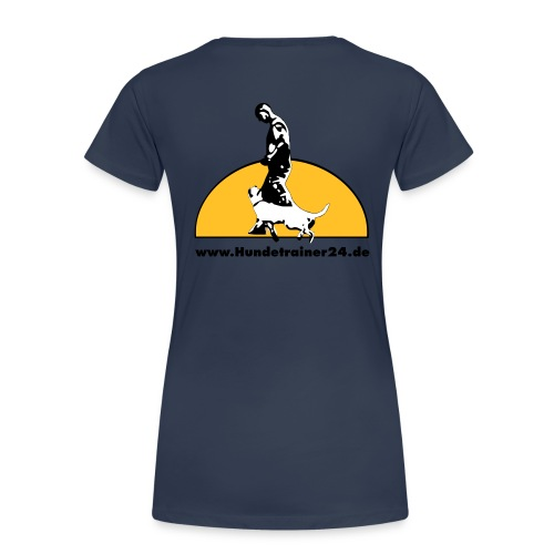 logo gelb schwarz - Frauen Premium T-Shirt