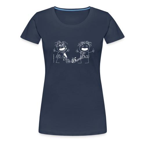 036 zwei schreipuschen weiss 4000x4000px - Frauen Premium T-Shirt