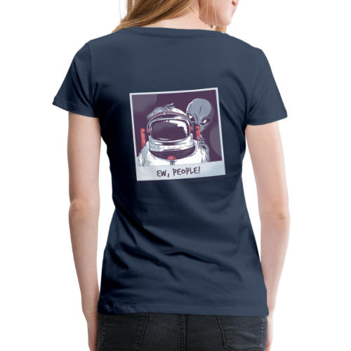 Aliens and astronaut - Women's Premium T-Shirt