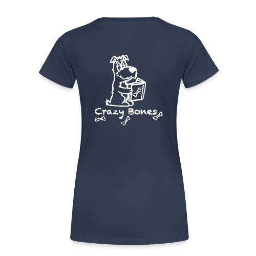 crazy bones shirtschwarz - Frauen Premium T-Shirt