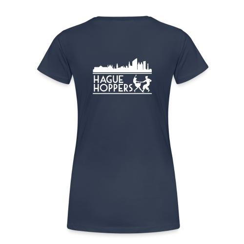 HH white logo back - Vrouwen Premium T-shirt