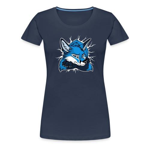 STUCK Blue Fox (front) - Frauen Premium T-Shirt
